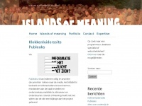 Islands of Meaning | in a sea of information, we need