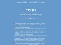 Typique.nl - * TYPIQUE * Ambachtelijke Drukkerij Amsterdam