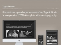 Typeandgrids.com - Type & Grids — Mobile-First HTML5 Templates & Flat-File CMS Themes