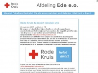 Rodekruisede.nl - Rode Kruis Ede - Hulp
