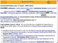 Econometric Links Econometrics Journal