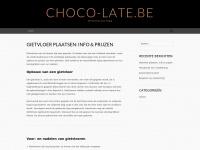 Choco-late.be – Chocolicious blog