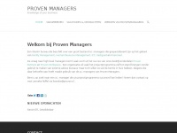 Proven Managers | Knowledge of your businessProven Managers | Knowledge of your business