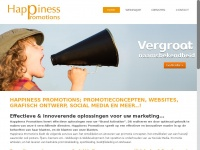 Happinesspromotions.nl - Happiness Promotions; Promotieconcepten, webdesignHappiness Promotions