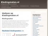 Kledingmaten.nl -Omrekenen en kledingmaat bepalen
