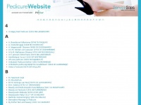 Pedicure website - Overzicht van pedicures