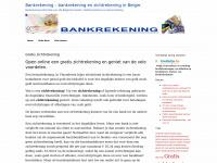 Gratis zichtrekening - Bankrekening - bankrekening en zichtrekening in Belgie.Bankrekening – bankrekening en zichtrekening in Belgie.