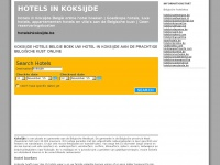 Koksijde hotels Belgie hotel boeken: hotels in koksijde