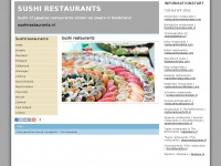 Sushi restaurants Japanse in Nederland: sushirestaurants