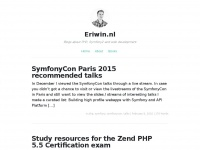 Eriwin.nl – Blogs about web development, PHP, Symfony & more