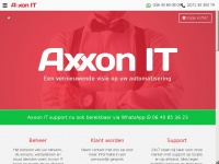 Axxonit.nl - Axxon IT - We let IT work. Simply.