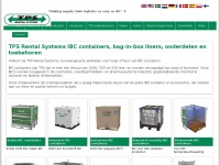 IBC containers, bag-in-box liners, onderdelen en toebeh | TPS Rental Systems