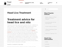 Treat-lice.com - Head Lice Treatment and Nit Removal Advice