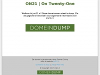 ON21 | On Twenty-One | on21.nl | Domein te koop | domeindump.nl