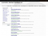 Cosmetic Dental holidays - En nog een WordPress site