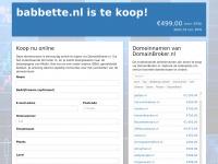 babbette.nl is te koop!