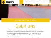 Wolf-oberlack.de - Gussasphalt W & O GmbH | Gussasphalt Wolf und Oberlack