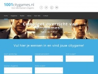 Voor elke stad een citygame! - 1001citygames.nl