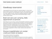 hotelboekenzondercreditcard.nl