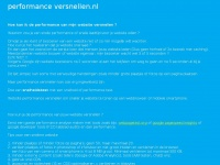 websiteperformanceversnellen.nl