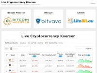Livecryptocurrencykoers.nl - Live Cryptocurrency Koersen - Realtime Cryptocurrency Koersen