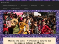 "Mexicaanse parade act - loopgroep ""Colores de Mexico"""