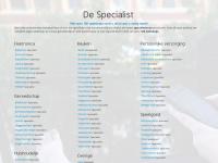 De Specialist | Er kan er maar één de specialist zijn
