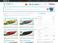 Lampen folie kopen? - 10 kleuren lampen folie webshop