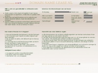 Domainnamelease.nl - DOMAIN-NAME-LEASE.NL -Index-