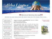 Altha-lingua.nl - Altha Lingua Taleninstituut - Taaltrainingen en taalcursussen | Zakelijk en particulier
