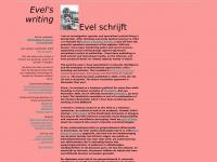 evel schrijft