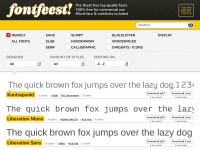 Fontfeest! The finest free top quality fonts + 100% free for commercial use + @font-face & webfonts included