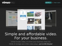 Vimeopro.com - Vimeo PRO: Simple and affordable video for your business