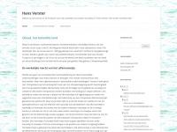 Hans Verster | Welkom op hansverster.nl, de thuisbasis voor mijn activiteiten als schrijver en publicist. © Hans Verster. Alle rechten voorbehouden