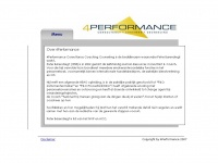 4performance.nl - 4Performance Consultancy Coaching Counseling