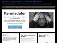 Jwalphenaar.nl - JWAlphenaar – Digitale trends watcher en spreker – Lezingen, presentaties, inspiratiesessies, workshops en trainingen over online communicatie, Social Media, Online PR, (Personal) Branding, Trends, Twitter, Trendwatcher,  ..