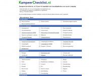 Inpaklijst kamperen - wat neem je mee naar de camping? - KampeerChecklist.nl