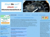 kilometerstand check - controleer of de kilometerstand klopt