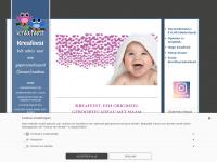 Kreafeest.nl - Geboortestoeltje, beschilderde speelgoedkist, geboorteklompjes, kraammand maken, beschilderd kraamcadeau