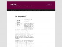 Krek.nl - Freelance tekstschrijver en SEO copywriter voor reclameteksten, web content en concepten