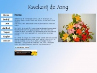 Kwekerijdejong.nl - Kwekerij de Jong - Homepage