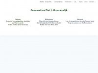 Pjgroenendijk.nl - Compositions Piet J. Groenendijk