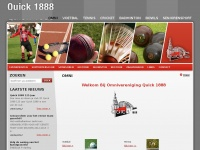 Quick 1888 Nijmegen. Voetbal, tennis, badminton, cricket, bowls, seniorensport, 4-daagsecamping, tennisvereniging, tennisclub, badmintonclub - Quick 1888