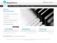 Online administratie | Simple Notes