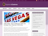 Supremecasinos.co.uk - Supreme Casinos - Keno, Video Poker, BlackJack and Roulette Strategies