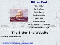 Shanty.co.uk - The Bitter End