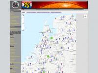 Benelux Weer Netwerk - Mesonet kaart