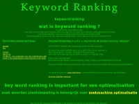 keywordranking key word ranking goed scoren in zoekmachines