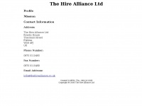 Thehirealliance.co.uk - The Hire Alliance Ltd