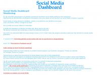 Social Media Dashboard Monitoring om twitter tweets and facebook meldingen te controleren